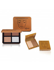 Face Contour Kit by Luscious Cosmetics. 4 Contouring and Highlight Powder Shades Palette Vegan and Cruelty Free.