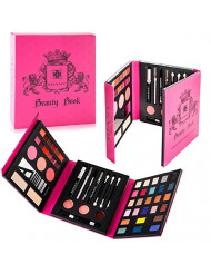 SHANY Beauty Book Makeup Kit - All in one Travel Makeup Set - 35 Colors Eye shadow, Eye brow, blushes, powder palette,10 Lip Colors, Eyeliner & Mirror - Holiday Makeup Gift Set