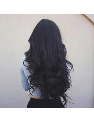"""VeSunny Body Wave Hair Extensions Tape in Natural Hair Color #1B Brazilian Wavy Black Tape in Hair Extensions Real Human Hair 20"""" 20pcs/50g"""