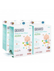 Nuby All Natural Baby Tooth and Gum Wipes With Citroganix,36 Count (pack Of 4), 144 Count