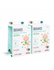Nuby All Natural Baby Tooth and Gum Wipes With Citroganix, 36 Count (Pack of 2), 72 Count