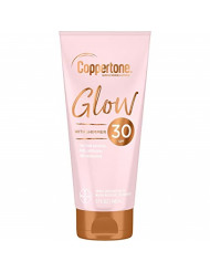 Coppertone Glow Hydrating Sunscreen Lotion with Illuminating Shimmer Minerals and Broad Spectrum SPF 30, Water-resistant, Fast-drying, Free of Parabens, PABA, Phthalates, Oxybenzone, 5 oz