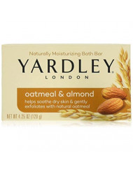 Yardley Oatmeal and Almond Bar Soap, 4.25 Oz, 4 Bars
