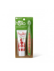 HELLO Apple Toddler Toothpaste Brush Bundle, 1 OZ
