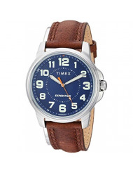 Timex Men's TW4B16000 Expedition Field Brown/Blue Leather Strap Watch