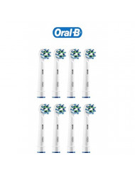 Braun Oral-B Crossaction 3-in-1 Toothbrush Heads by Oral-B | Packing may be vary (8 Count)