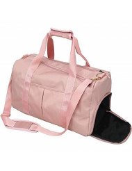 Women Gym Sport Bag with Wet Pocket & Shoes Compartment Waterproof Swim Weekender Overnight Travel Bag (Gmy Bag Pink)