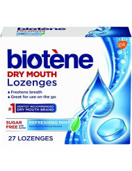 Biotene Dry Mouth Lozenges, Refreshing Mint, 27 Count (Pack of 3)