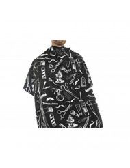 Vintage Tools Cape for Barbers and Stylists (Black)