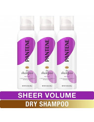 Pantene, Dry Shampoo, Add Fullness and Refresh Without Washing, Pro-V Sheer Volume for Fine Hair, 4.9 Oz, Pack of 3