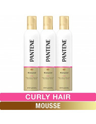 Pantene, Curl Mousse, Tame frizz for Soft Touchable Curls, Pro-V, For Curly Hair, 6.6 fl oz, Triple Pack