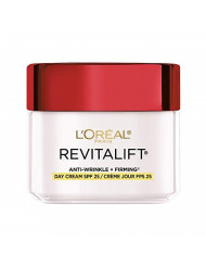 Face Moisturizer with SPF 25 by L'Oreal Paris, Revitalift Anti-Aging Face Moisturizer with Pro-Retinol and Centella Asiatica, Paraben Free, Suitable for Sensitive Skin, 2.55 oz.