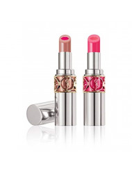 Yves Saint Laurent Rouge Volupte Shine Lipstick (2 Pack Combo (No.13 Nude & No 9 Pink))