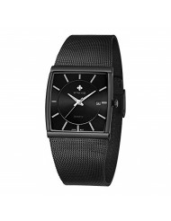 WWOOR Square Watches for Men Stainless Steel Mens Square Watch with Date Original Waterproof Analog Quartz Fashion Business Casual Wristwatch