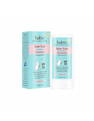 Baby Face Mineral Sunscreen Stick SPF 50 with 70+% Organic Ingredients, 100% Zinc Active, Water- Resistant, Reef-Friendly, Fragrance-Free - 0.6 oz.
