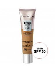 Maybelline Dream Urban Cover Flawless Coverage Foundation Makeup, SPF 50, Cafe Au Lait