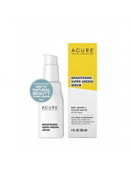 ACURE Brightening Super Greens Serum | 100% Vegan | For A Brighter Appearance | Kale, Spirulina & Broccoli Seed Oil - Superfoods For Your Face | All Skin Types  | 1.7 Fl Oz