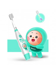 kids& Baby Toothbrush Electric Sonic Battery Powered With Smart Timer and Colorful LED, Baby &kids Electric Toothbrushes-Baby Sonic Toothbtush(BLUE) (Blue)