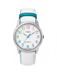 Timex Women's Year-Round Quartz Watch with Leather Strap, White, 20 (Model: TW2T28400)