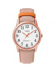 Timex Women's Year-Round Quartz Watch with Leather Strap, Pink, 20 (Model: TW2T28600)