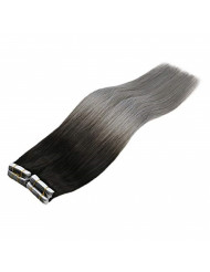 Sunny 18inch Ombre Tape in Hair Extensions Human Hair Natural Black to Bluegrey Tape in Extensions Remy Human Hair Ombre Tape on Extensions 20pcs/50g