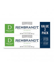 Rembrandt Deeply White + Peroxide Whitening Toothpaste, Peppermint Flavor, 3.5-Ounce (2 Pack)