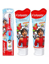 Colgate Kids Toothpaste and Battery Powered Toothbrush Set, Ryan's World