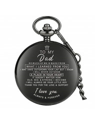 Dad Birthday Gifts from Unique, Daddy Gift Ideas for Christmas Fathers Day, Dad Pocket Watch Engraved(to My DAD I Love You Always&Forever)
