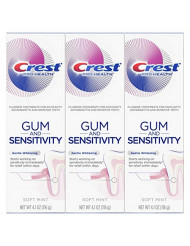 Crest Pro-Health Gum and Sensitivity, Sensitive Toothpaste, Gentle Whitening, 4.1 Ounce, Pack of 3