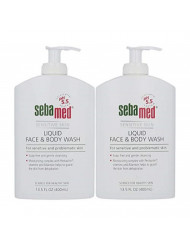 Sebamed Paraben-Free Liquid Face and Body Wash with Pump pH 5.5 Dermatologist Recommended Mild Hydrating Cleanser for Sensitive Skin 13.5 Fluid Ounces (400 Milliliters) Pack of 2