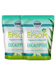 Salt Works Ultra Epsom Premium Scented Epsom Salt, Eucalyptus Bundle, 4 Lb
