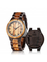 Engraved Wooden Watch for Dad Personalized Wood Watch Idea for Him Christmas Fathers Day Birthday Gifts
