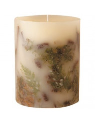 Rosy Rings Medium Round Botanical Candle - Forest
