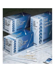 """Dynarex Cotton Tipped Applicators with Wooden Shaft, Non-Sterile, 3"""", 10,000/cs"""