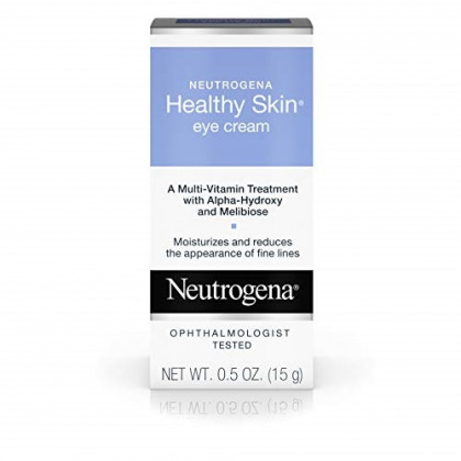 Neutrogena Healthy Skin Eye Firming Cream with Alpha Hydroxy Acid, Vitamin A and Vitamin B5 - Eye Cream for Wrinkles with Glycerin, Glycolic Acid, Alpha Hydroxy, Vitamin A, Vitamin B5, Vitamin C, 0.5