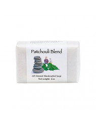 Patchouli Blend Handmade Bath Soap with Shea Butter, Cocoa Butter and Pure Essential Oils (4 Oz, One Bar) by MoonDance Soaps and More
