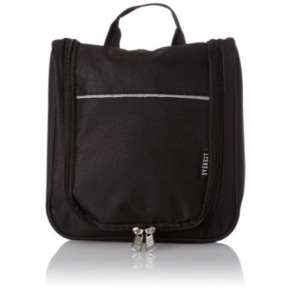 Everest Toiletry Bag, Black, One Size