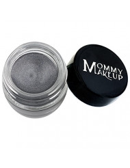 Mommy Makeup Waterproof Stay Put Gel Eyeliner with Semi-Permanent Micropigments - smudge-proof, long wearing, paraben-free - Steel Magnolia (deep grey with shimmer)