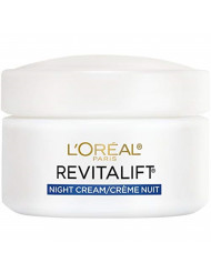 Night Cream by L'Oreal Paris, Revitalift Anti-Aging Face Moisturizer with Pro-Retinol and Centella Asiatica, Paraben Free, Non-Comedogenic, Suitable for Sensitive Skin, 1.7 oz.
