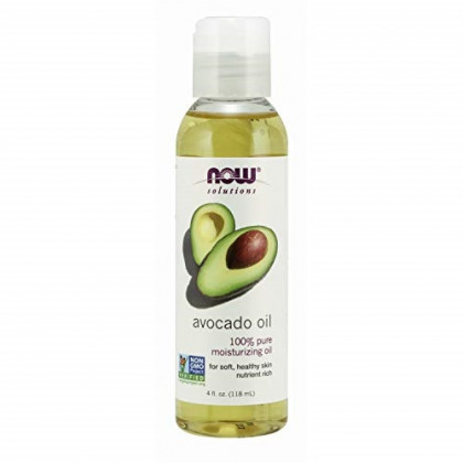 NOW Solutions, Avocado Oil, 100% Pure Moisturizing Oil, Nutrient Rich and Hydrating, 4 FL Oz (Pack of 1)
