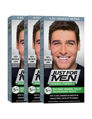 Just For Men Original Formula Men's Hair Color, Darkest Brown (Pack of 3)