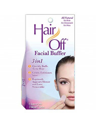 HairOff Facial Buffer 3 Each (Pack of 2)