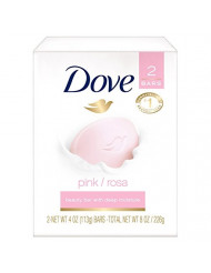 Dove Beauty Bar Pink, 4 Ounce (Pack of 2)