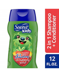 Suave Kids 2 in 1 Shampoo and Conditioner, Strawberry Smoothers, 12 oz