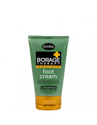 Shikai - Borage Therapy Plant-Based Dry Skin Foot Cream, Combat Dry, Cracked & Flakey Skin On Feet & Lower Legs, Good For Dry Skin Caused By Diabetes, Non-Greasy (Unscented, 4.2 Ounces)