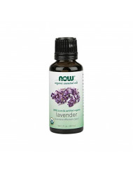 Now Essential Oils, Organic Lavender Oil, Soothing Aromatherapy Scent, Steam Distilled, 100% Pure, Vegan, 1-Ounce