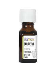 Aura Cacia Red Thyme Essential Oil | GC/MS Tested for Purity | 15ml (0.5 fl. oz.)