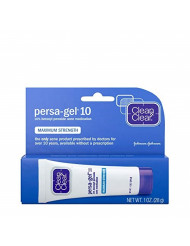 Clean & Clear Persa-Gel 10 Acne Medication Spot Treatment with Maximum Strength 10% Benzoyl Peroxide, Pimple Cream & Acne Gel Medicine for Face Acne with Benzoyl Peroxide Medication, 1 oz (pack of 4)
