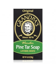 Grandpa's Soap Pine Tar 4.25 oz (Pack of 4)
