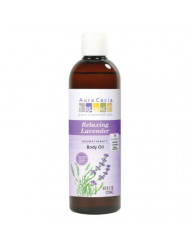 Aura Cacia Body Oil, Relaxing Lavender, 8 Fluid Ounce (Pack of 2)